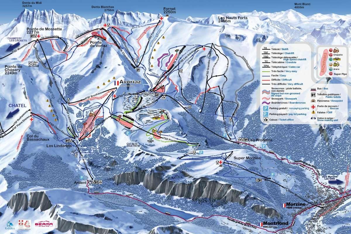 Morzine Avoriaz Ski Map