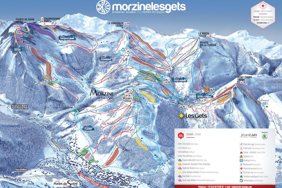 Morzine Les Gets Ski Map
