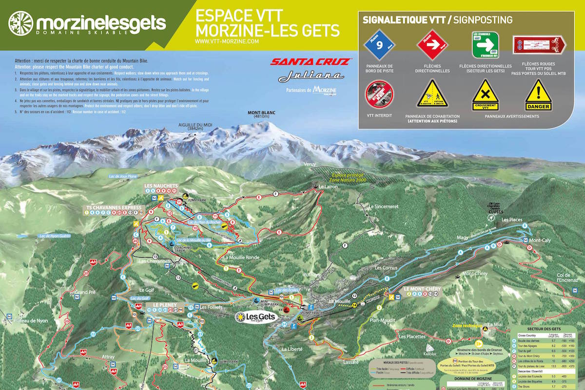 Morzine Les Gets VTT Map